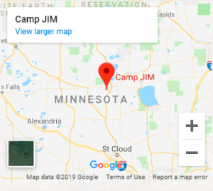Google map to camp jim location